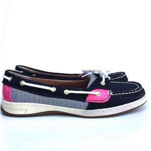 Liz Claiborne Blue And Pink Loafer